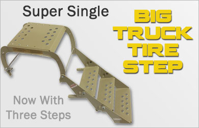 Super Single Big Truck Tire Step Now With Three Steps